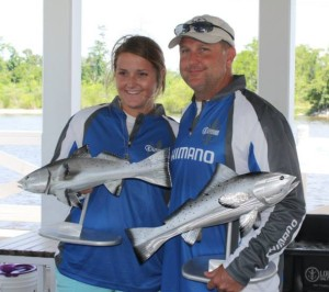 Scott & Baylie Comeaux win 1st place in Saltwater Speckled Trout Series out of Mandeville, LA